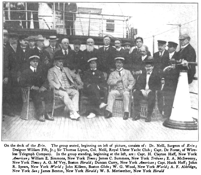 Group photograph aboard the Erin