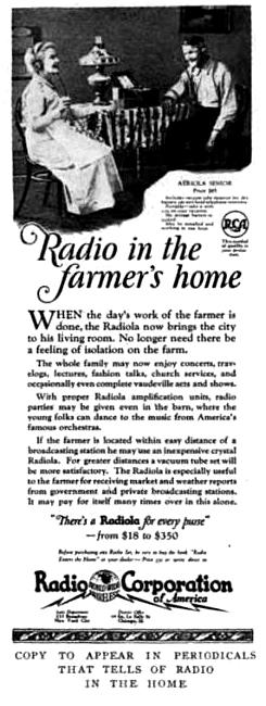 Radio to the Farmer's Home